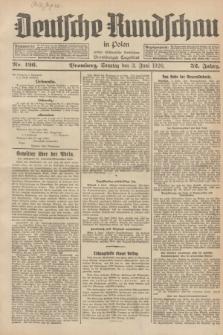 Deutsche Rundschau in Polen : früher Ostdeutsche Rundschau, Bromberger Tageblatt. Jg.52, Nr. 126 (3 Juni 1928) + dod.