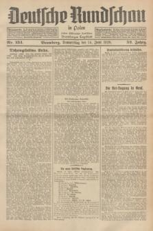 Deutsche Rundschau in Polen : früher Ostdeutsche Rundschau, Bromberger Tageblatt. Jg.52, Nr. 134 (14 Juni 1928) + dod.