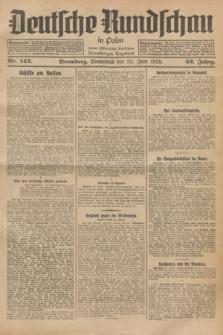 Deutsche Rundschau in Polen : früher Ostdeutsche Rundschau, Bromberger Tageblatt. Jg.52, Nr. 142 (23 Juni 1928) + dod.