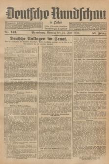 Deutsche Rundschau in Polen : früher Ostdeutsche Rundschau, Bromberger Tageblatt. Jg.52, Nr. 143 (24 Juni 1928) + dod.