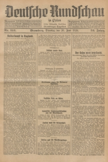 Deutsche Rundschau in Polen : früher Ostdeutsche Rundschau, Bromberger Tageblatt. Jg.52, Nr. 144 (26 Juni 1928) + dod.