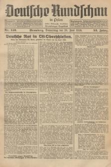 Deutsche Rundschau in Polen : früher Ostdeutsche Rundschau, Bromberger Tageblatt. Jg.52, Nr. 146 (28 Juni 1928) + dod.
