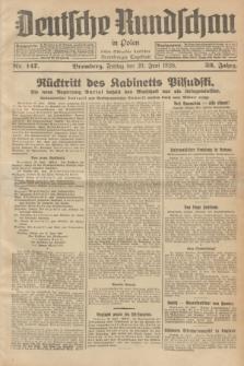 Deutsche Rundschau in Polen : früher Ostdeutsche Rundschau, Bromberger Tageblatt. Jg.52, Nr. 147 (29 Juni 1928) + dod.