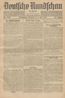 Deutsche Rundschau in Polen : früher Ostdeutsche Rundschau, Bromberger Tageblatt. Jg.52, Nr. 150 (4 Juli 1928) + dod.