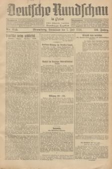 Deutsche Rundschau in Polen : früher Ostdeutsche Rundschau, Bromberger Tageblatt. Jg.52, Nr. 153 (7 Juli 1928) + dod.