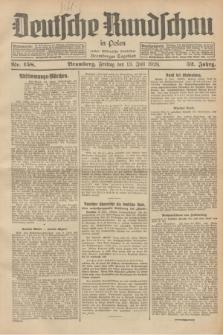 Deutsche Rundschau in Polen : früher Ostdeutsche Rundschau, Bromberger Tageblatt. Jg.52, Nr. 158 (13 Juli 1928) + dod.