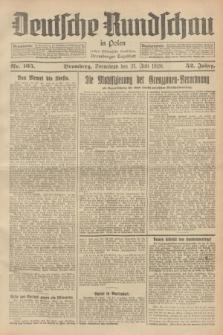 Deutsche Rundschau in Polen : früher Ostdeutsche Rundschau, Bromberger Tageblatt. Jg.52, Nr. 165 (21 Juli 1928) + dod.