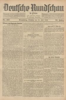 Deutsche Rundschau in Polen : früher Ostdeutsche Rundschau, Bromberger Tageblatt. Jg.52, Nr. 167 (24 Juli 1928) + dod.
