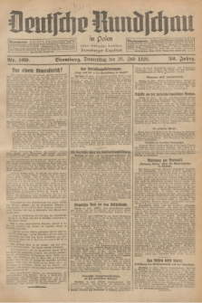 Deutsche Rundschau in Polen : früher Ostdeutsche Rundschau, Bromberger Tageblatt. Jg.52, Nr. 169 (26 Juli 1928) + dod.