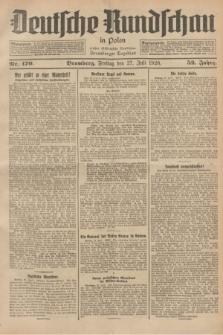 Deutsche Rundschau in Polen : früher Ostdeutsche Rundschau, Bromberger Tageblatt. Jg.52, Nr. 170 (27 Juli 1928) + dod.