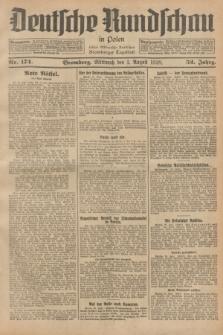 Deutsche Rundschau in Polen : früher Ostdeutsche Rundschau, Bromberger Tageblatt. Jg.52, Nr. 174 (1 August 1928) + dod.