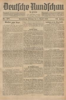 Deutsche Rundschau in Polen : früher Ostdeutsche Rundschau, Bromberger Tageblatt. Jg.52, Nr. 178 (5 August 1928) + dod.