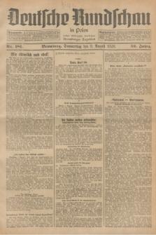 Deutsche Rundschau in Polen : früher Ostdeutsche Rundschau, Bromberger Tageblatt. Jg.52, Nr. 181 (9 August 1928) + dod.
