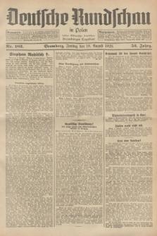 Deutsche Rundschau in Polen : früher Ostdeutsche Rundschau, Bromberger Tageblatt. Jg.52, Nr. 182 (10 August 1928) + dod.