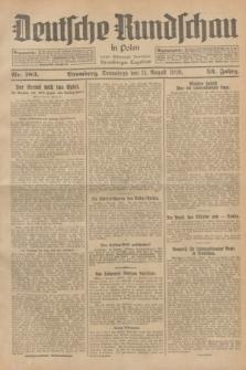 Deutsche Rundschau in Polen : früher Ostdeutsche Rundschau, Bromberger Tageblatt. Jg.52, Nr. 183 (11 August 1928) + dod.