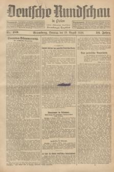 Deutsche Rundschau in Polen : früher Ostdeutsche Rundschau, Bromberger Tageblatt. Jg.52, Nr. 189 (19 August 1928) + dod.