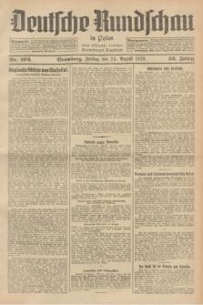 Deutsche Rundschau in Polen : früher Ostdeutsche Rundschau, Bromberger Tageblatt. Jg.52, Nr. 193 (24 August 1928) + dod.