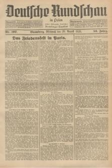 Deutsche Rundschau in Polen : früher Ostdeutsche Rundschau, Bromberger Tageblatt. Jg.52, Nr. 197 (29 August 1928) + dod.