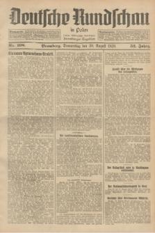Deutsche Rundschau in Polen : früher Ostdeutsche Rundschau, Bromberger Tageblatt. Jg.52, Nr. 198 (30 August 1928) + dod.