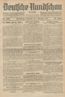 Deutsche Rundschau in Polen : früher Ostdeutsche Rundschau, Bromberger Tageblatt. Jg.52, Nr. 200 (1 September 1928) + dod.
