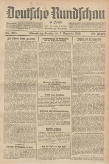 Deutsche Rundschau in Polen : früher Ostdeutsche Rundschau, Bromberger Tageblatt. Jg.52, Nr. 201 (2 September 1928) + dod.