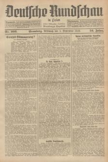 Deutsche Rundschau in Polen : früher Ostdeutsche Rundschau, Bromberger Tageblatt. Jg.52, Nr. 203 (5 September 1928) + dod.