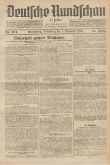Deutsche Rundschau in Polen : früher Ostdeutsche Rundschau, Bromberger Tageblatt. Jg.52, Nr. 204 (6 September 1928) + dod.