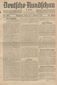 Deutsche Rundschau in Polen : früher Ostdeutsche Rundschau, Bromberger Tageblatt. Jg.52, Nr. 205 (7 September 1928) + dod.
