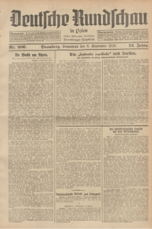 Deutsche Rundschau in Polen : früher Ostdeutsche Rundschau, Bromberger Tageblatt. Jg.52, Nr. 206 (8 September 1928) + dod.