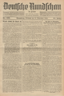 Deutsche Rundschau in Polen : früher Ostdeutsche Rundschau, Bromberger Tageblatt. Jg.52, Nr. 209 (12 September 1928) + dod.