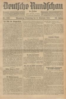 Deutsche Rundschau in Polen : früher Ostdeutsche Rundschau, Bromberger Tageblatt. Jg.52, Nr. 210 (13 September 1928) + dod.