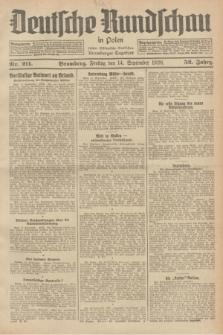 Deutsche Rundschau in Polen : früher Ostdeutsche Rundschau, Bromberger Tageblatt. Jg.52, Nr. 211 (14 September 1928) + dod.