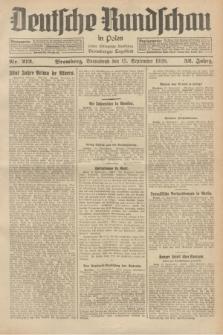 Deutsche Rundschau in Polen : früher Ostdeutsche Rundschau, Bromberger Tageblatt. Jg.52, Nr. 212 (15 September 1928) + dod.