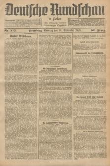 Deutsche Rundschau in Polen : früher Ostdeutsche Rundschau, Bromberger Tageblatt. Jg.52, Nr. 213 (16 September 1928) + dod.