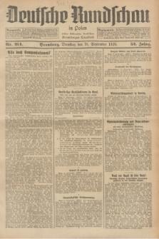 Deutsche Rundschau in Polen : früher Ostdeutsche Rundschau, Bromberger Tageblatt. Jg.52, Nr. 214 (18 September 1928) + dod.