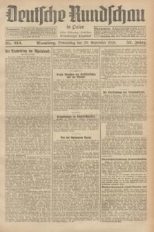 Deutsche Rundschau in Polen : früher Ostdeutsche Rundschau, Bromberger Tageblatt. Jg.52, Nr. 216 (20 September 1928) + dod.