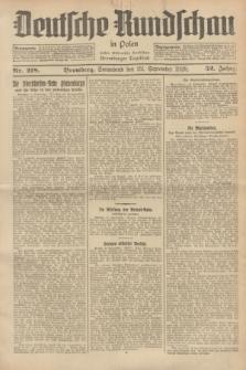 Deutsche Rundschau in Polen : früher Ostdeutsche Rundschau, Bromberger Tageblatt. Jg.52, Nr. 218 (22 September 1928) + dod.