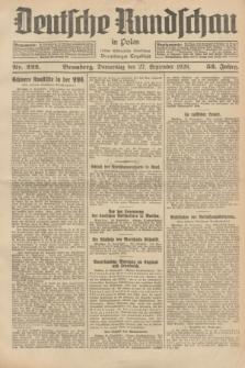 Deutsche Rundschau in Polen : früher Ostdeutsche Rundschau, Bromberger Tageblatt. Jg.52, Nr. 222 (27 September 1928) + dod.