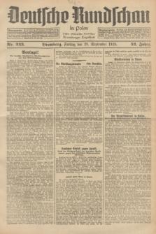 Deutsche Rundschau in Polen : früher Ostdeutsche Rundschau, Bromberger Tageblatt. Jg.52, Nr. 223 (28 September 1928) + dod.