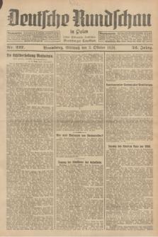 Deutsche Rundschau in Polen : früher Ostdeutsche Rundschau, Bromberger Tageblatt. Jg.52, Nr. 227 (3 Oktober 1928) + dod.