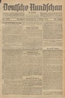 Deutsche Rundschau in Polen : früher Ostdeutsche Rundschau, Bromberger Tageblatt. Jg.52, Nr. 228 (4 Oktober 1928) + dod.