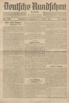 Deutsche Rundschau in Polen : früher Ostdeutsche Rundschau, Bromberger Tageblatt. Jg.52, Nr. 230 (6 Oktober 1928) + dod.