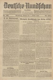 Deutsche Rundschau in Polen : früher Ostdeutsche Rundschau, Bromberger Tageblatt. Jg.52, Nr. 231 (7 Oktober 1928) + dod.