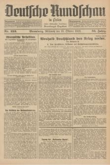 Deutsche Rundschau in Polen : früher Ostdeutsche Rundschau, Bromberger Tageblatt. Jg.52, Nr. 233 (10 Oktober 1928) + dod.