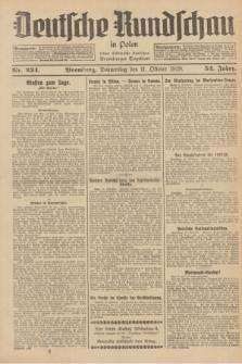 Deutsche Rundschau in Polen : früher Ostdeutsche Rundschau, Bromberger Tageblatt. Jg.52, Nr. 234 (11 Oktober 1928) + dod.