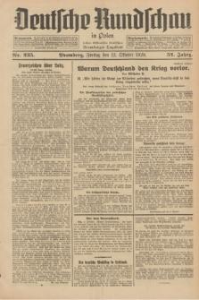 Deutsche Rundschau in Polen : früher Ostdeutsche Rundschau, Bromberger Tageblatt. Jg.52, Nr. 235 (12 Oktober 1928) + dod.