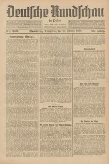 Deutsche Rundschau in Polen : früher Ostdeutsche Rundschau, Bromberger Tageblatt. Jg.52, Nr. 240 (18 Oktober 1928) + dod.