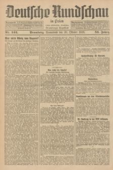 Deutsche Rundschau in Polen : früher Ostdeutsche Rundschau, Bromberger Tageblatt. Jg.52, Nr. 242 (20 Oktober 1928) + dod.