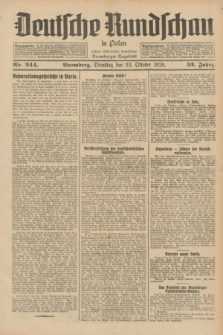 Deutsche Rundschau in Polen : früher Ostdeutsche Rundschau, Bromberger Tageblatt. Jg.52, Nr. 244 (23 Oktober 1928) + dod.