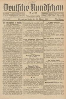 Deutsche Rundschau in Polen : früher Ostdeutsche Rundschau, Bromberger Tageblatt. Jg.52, Nr. 247 (26 Oktober 1928) + dod.